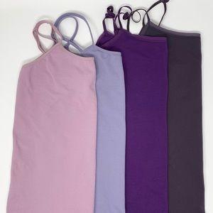 Ann Taylor Set of 4 Purple Camisoles Size M